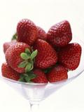 Fresas frescas Lámina fotográfica
