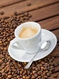 Cup of Espresso and Coffee Beans Photographic Print by Chris Schäfer
