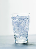 Glass of Mineral Water with Ice Cubes Photographic Print by  Kröger & Gross