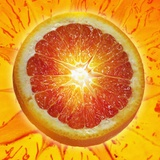 A Slice of Blood Orange Photographic Print by Karl Newedel
