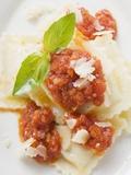 Ravioli with Tomato Sauce Fotografisk tryk