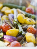 Grilled Vegetables Photographic Print