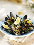 Marinated Mussels Photographic Print by Ian Garlick