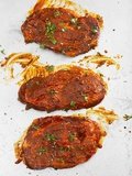 Marinated Steaks Photographic Print by Kai Schwabe