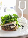 Sea Bass on a Bed of Vegetables with Water Cress Photographic Print by Alexandre Oliveira
