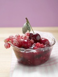 Red Berry Compote in Glass Dish Photographic Print
