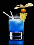 Drink Made with Blue Curaçao Photographic Print by Walter Pfisterer