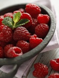 Raspberries in a Dish Photographic Print by Malgorzata Stepien