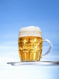 Lager in Glass Mug Photographic Print by Michael Werner
