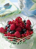 Mixed Berries in a Basket Photographic Print