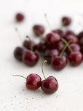 Fresh Cherries Photographic Print by Sam Stowell
