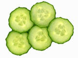 Five Slices of Cucumber Photographic Print by Steven Morris