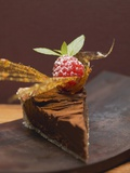 A Piece of Chocolate Tart Photographic Print