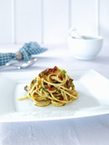 Spaghetti with Dried Tomatoes, Herbs and Olives Photographic Print by Daniel Reiter