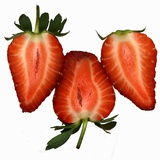 Three Strawberries Halves Photographic Print by Steven Morris