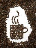 Shape of a Cup of Coffee in Coffee Beans Photographic Print by Gustavo Andrade