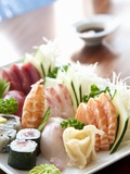 Sushi and Sashimi Platter Photographic Print by Alexandre Oliveira