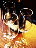 Champagne Glasses and a Bottle of Champagne Photographic Print by Maja Danica Pecanic