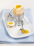 A Boiled Egg in an Eggcup Photographic Print by Ian Garlick