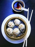 Dim Sum in Bamboo Steamer (China) Photographic Print by Dorota & Bogdan Bialy