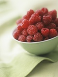 Bowl of Fresh Raspberries Photographic Print by Clinton Hussey