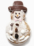 Gingerbread Snowman Biscuit Photographic Print