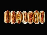 A Row of Hot Dogs Lámina fotográfica por Jim Norton