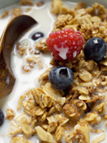 Crunchy Muesli with Berries and Milk Photographic Print