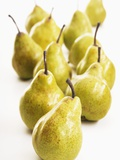 Several Pears Standing One Behind the Other Photographic Print by Dieter Heinemann