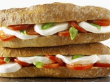 Two Mozzarella and Tomato Baguettes Photographic Print by Paul Williams