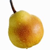 A Williams Pear with Drops of Water Photographic Print by Janez Puksic