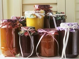 Jams and Sauces in Jars Photographic Print by Linda Burgess