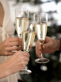 Clinking Three Champagne Glasses Photographic Print by Sporrer & Skowronek