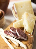 Antipasto Rustico (Grissini, Salami, Pecorino and Parmesan) Photographic Print