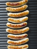Grilled Sausages from Above Photographic Print
