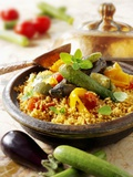Couscous with Fried Vegetables Photographic Print by Paul Williams