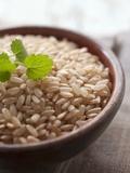 Wholegrain Rice in a Terracotta Bowl Photographic Print by Malgorzata Stepien