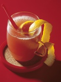Orange Punch Garnished with Orange Peel Fotografie-Druck von Ulrich Kerth