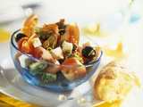Tomato, Mussel, Feta and Olive Salad Photographic Print