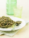 Linguine with Green Cabbage Fotografisk tryk af Jim Norton