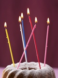 Gugelhupf with Birthday Candles Photographic Print by Marc O. Finley