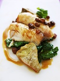 Fillet of Bream with Chard, Artichokes and Raisins Photographic Print by Herbert Lehmann