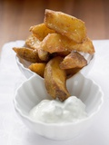Potato Wedges with Yoghurt Dip Photographic Print