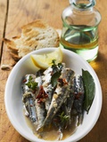 Fried Anchovies with Dried Tomatoes (Calabria) Photographic Print