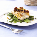 Baked Cod on Beans Photographic Print by Frank Wieder