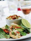 Prawn and Avocado Salad Photographic Print by Sam Stowell