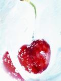 Cherry Frozen in a Block of Ice Lámina fotográfica por Dieter Heinemann