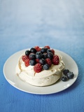 Pavlova with Berries Photographic Print by Ira Leoni