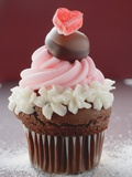 Cupcake for Valentine&#39;s Day Photographie
