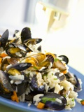 Mussels with Rice Photographic Print